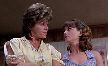 Holly Hunter and Frances McDormand in Raising Arizona.
