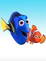The two fishes from the movie 'Finding Nemo.'