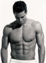 Hunky fitness model with nice abs. (c) Rodale.