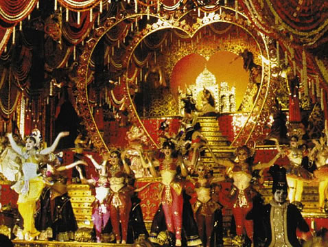 Still from 'Hindi Sad Diamons' number in Moulin Rouge.
