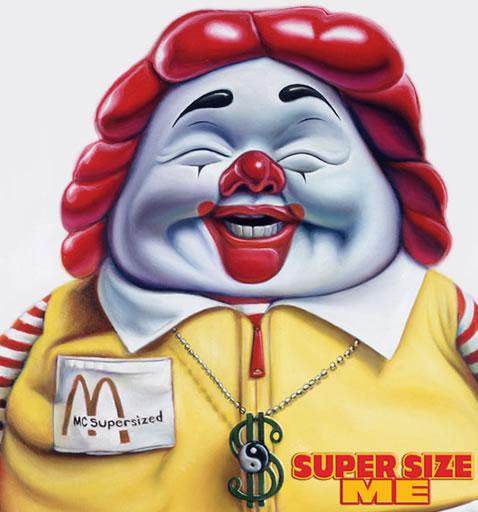 Ronald McDonald obese.