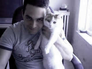 Me and my cat.