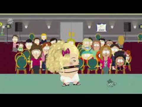 The Dead Celebrities episode of South Park was on tonight lampooning poltergeist- Billy Mays and  dead Michael Jackson who inhabits Ike's body and they must go to a beauty pageant to put his soul at rest.