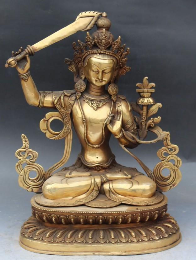 17-Chinese-font-b-Tibet-b-font-Buddhism-Bronze-Wenshu-Manjushri-Buddha-font-b-Sword-b